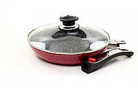 Сковорода индукционная со съемной ручкой 22 см (алюминий+керамика) Lessner Ceramiс Line  88348-22