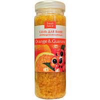 """Соль для ванны """" Fresh Juice """" 700 г Апельсин и Гуарана"""