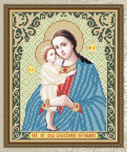 Авторская канва для вышивки бисером «Взыскание Погибших Образ Пресвятой Богородицы»