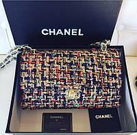 Люкс-копия Chanel твид черная
