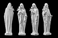 Скульптура Девы Марии из искусственного мрамора № 7