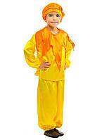 Костюм Солнышка Лучика для мальчика: кофта с воротником, штаны (капри) и шапочка.