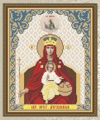 Авторская канва для вышивки бисером «Образ Пресвятой Богородицы Державная»