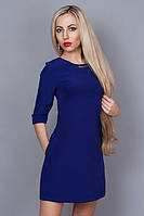 Платье-мини цвета электрик
