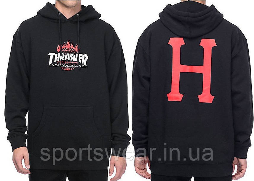 "ТолстовкаHuf Thrasher | Кенгурушка Thrasher  """" В стиле Thrasher """""