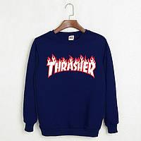 "Свитшот мужской синий  с принтом ""Thrasher Magazine"" | Кофта"