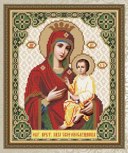 Авторская канва для вышивки бисером «Образ Пресвятой Богородицы Скоропослушница»