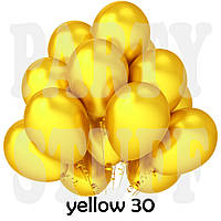 Воздушные шарики Gemar GM90 металлик желтый 10' (26 см) 100 шт