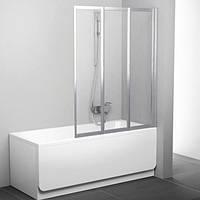 Шторка для ванны Ravak 130 см VS3 130 белый+transparent 795V0100Z1