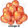 Воздушные шарики Gemar GM 90 металлик оранжевый 10' (26 см) 100 шт