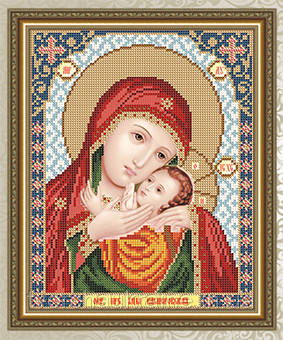 Авторская канва для вышивки бисером «Образ Пресвятой Богородицы Касперовская»
