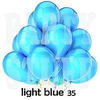 Шарики Gemar GM90 металлик светло-голубой 10' (26 см) 100 шт
