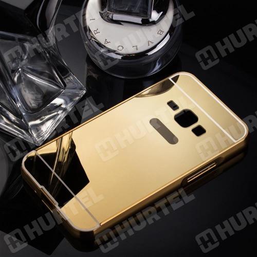 Чехол для Galaxy J1 2016 / Samsung J120 зеркальный золотистый