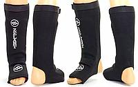 Защита ног (голень+стопа) чулоч.тип (фиксатор-липучка) ZEL ZB-4219-BK(XL) (неопрен, р.XL, чёрный)