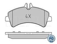 Колодки тормозные зад. MB Sprinter 509-519CDI/VW Crafter 50, 06- (спарка)