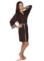Женский коричневый халат