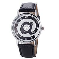 Женские наручные часы кварцевые Ladybell черные, черного цвета, черно-белые