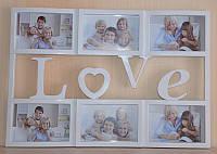 "Рамка для фото, фотоколлаж ""Любовь"" на 6 фото"