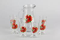 Набор подарочный кувшин со стаканами 7 придметов