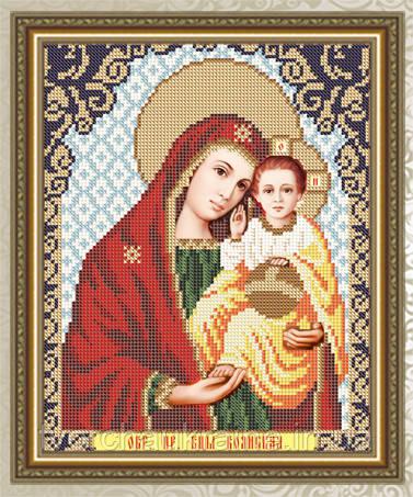 Авторская канва для вышивки бисером «Образ Пресвятой Богородицы Боянская»