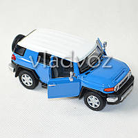 Машинка Toyota FJ Cruiser метал 1:32 синяя