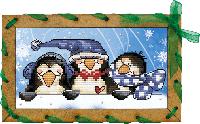 Новая Слобода ОР7504 Пингвинчики, набор для вышивания нитками