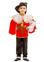 Маскарадный костюм мушкетера: рубашка с накидкой, капри, шляпа с пером., фото 3