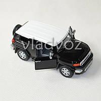 Машинка Toyota FJ Cruiser метал 1:32 черная