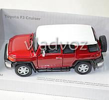 Машинка Toyota FJ Cruiser метал 1:32 красная, фото 3