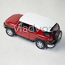 Машинка Toyota FJ Cruiser метал 1:32 красная, фото 2