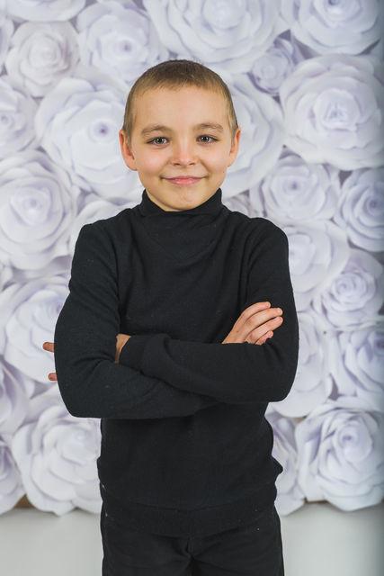 Стильный детский джемпер, черный