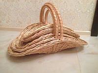 Набор плетеных корзин из 5 штук