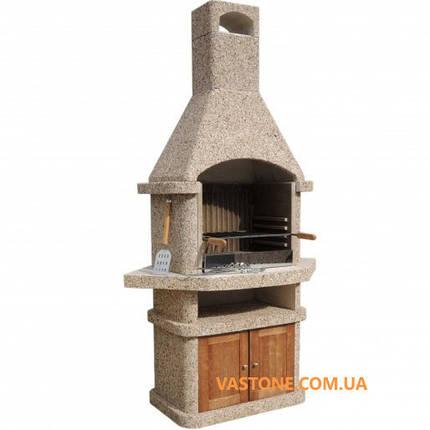 Камин барбекю «Сицилия» угловой с дверцами, фото 2
