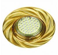 Светильник точечный поворотный Feron DL6027 MR-16 золото, хром