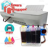 3 в 1 МФУ CANON Pixma MG2450 Принтер Сканер Копир + Система непрерывной подачи чернил 4 цвета 100 мл + подарок
