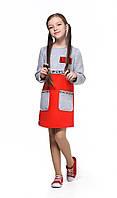 Детское теплое платье с длинным рукавом