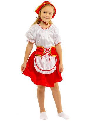 Костюм Красной шапочки:  кофта, юбка с  фартушком и шапочка., фото 2