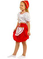 Костюм Красной шапочки:  кофта, юбка с  фартушком и шапочка., фото 3
