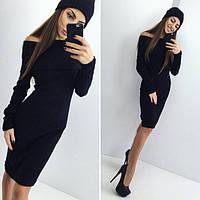 Платье с широким воротником и шапкой