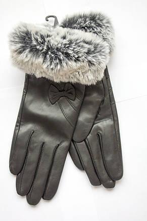 Женские перчатки с мехом из кожи козы МАЛЕНЬКИЕ, фото 2