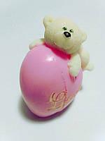Мыло Мишка на сердце-1, мыло 3-D ручная работа. Подарок