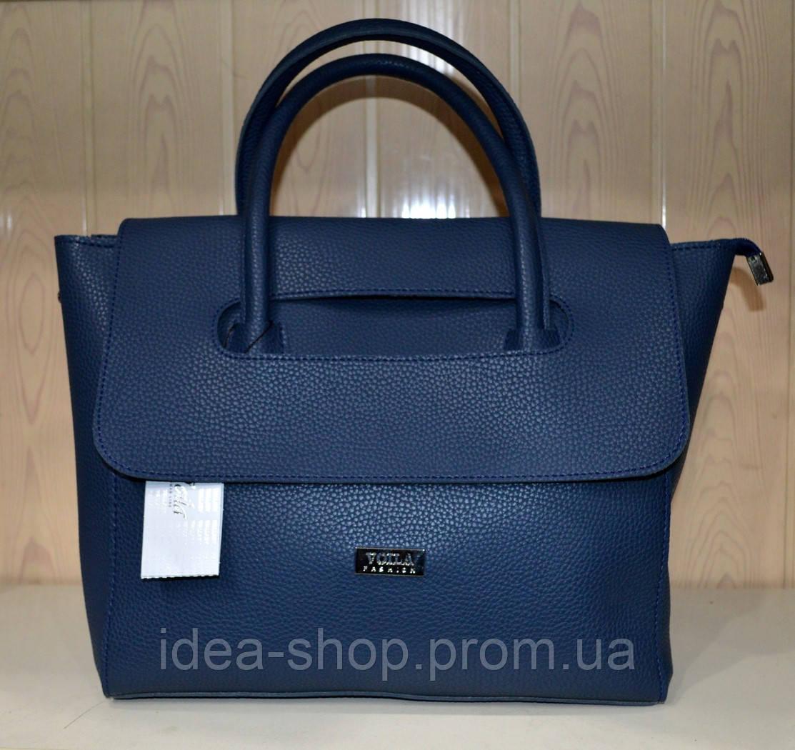 c9e562e5d2d0 Женская сумка эко-кожа синяя Wallaby - интернет-магазин