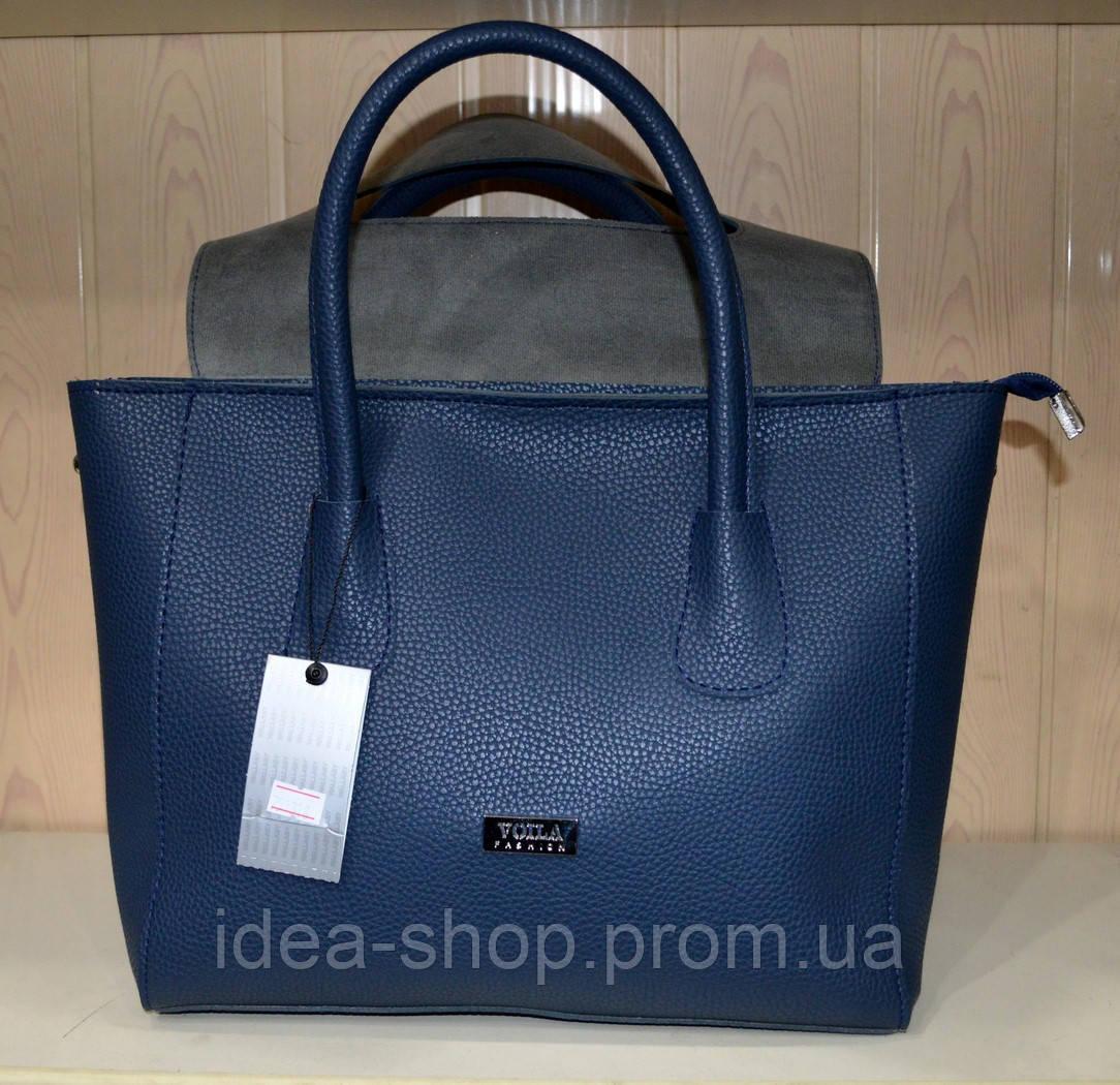 021e2cf3f540 Женская сумка эко-кожа синяя Wallaby, цена 530 грн., купить в Харькове —  Prom.ua (ID#450167877)