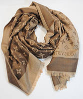 Палантин кашемировый коричнево/золотистый двусторонний Louis Vuitton 8881