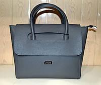 Женская сумка из эко-кожи серая Wallaby