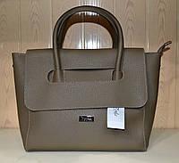 Женская сумка из эко-кожи коричневая Wallaby