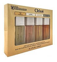 Подарочный,парфюмерный набор с феромонами  Chloe  - 4шт по 15мл