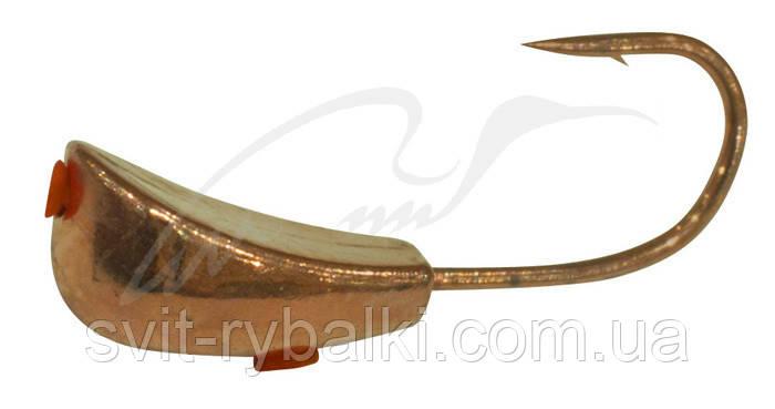 Мормышка вольфрамовая Shark Уралка 1,3г диам.5/L крючок D12 гальваника ц:медь