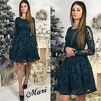 Платье  гепюровое Mari