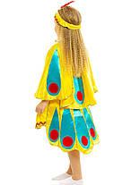 Костюм Жар-птицы: юбка с хвостом, накидка и повязка с монетками и пером., фото 3